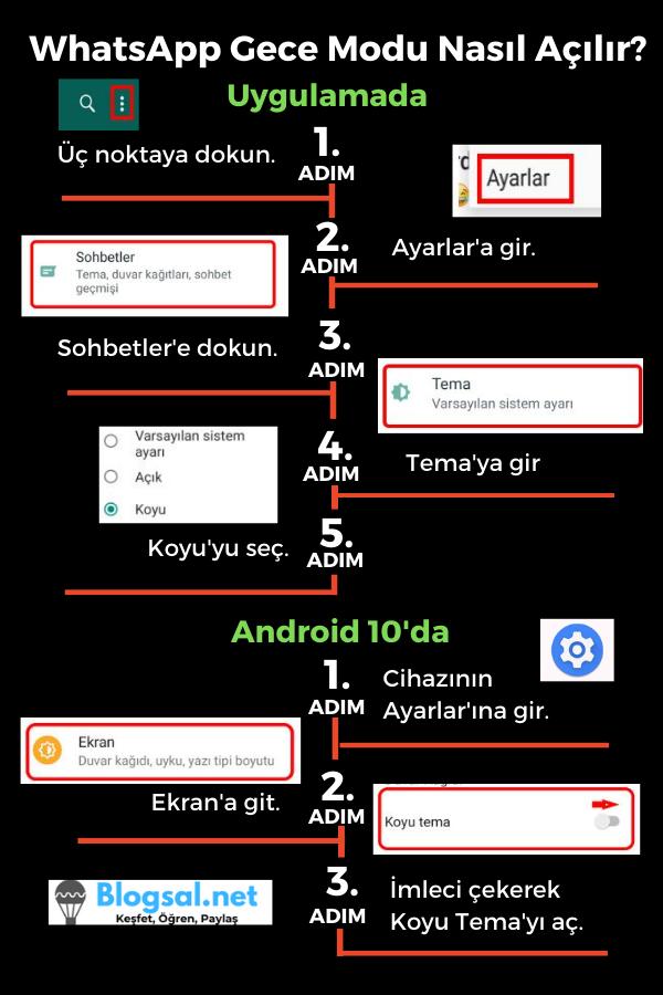 whatsapp-gece-modu-nasıl-açılır